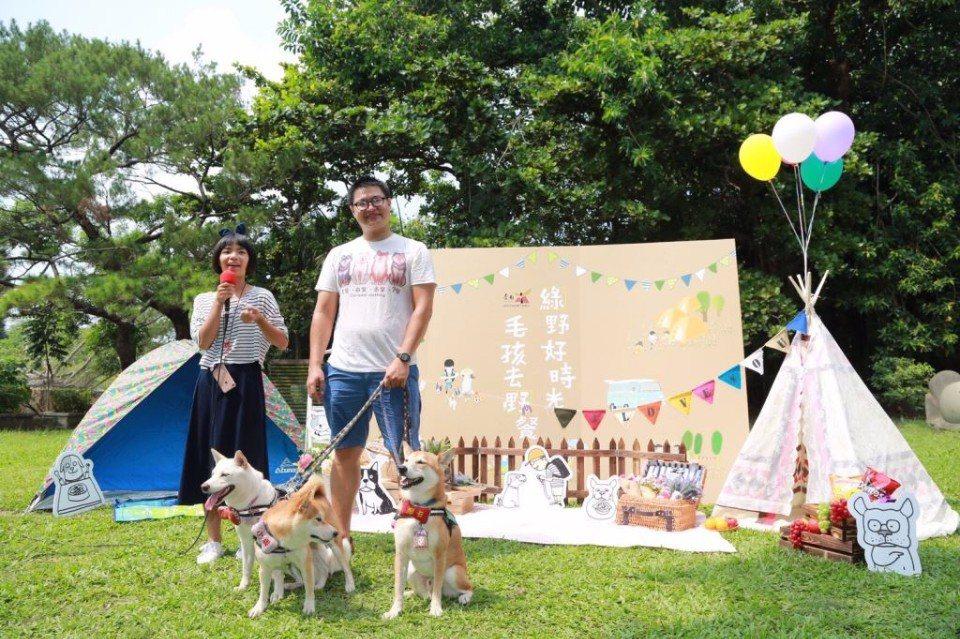 囍八格寵物餐廳也來參與「綠野好時光毛孩來野餐」活動。(圖片提供/台南市政府觀光旅...