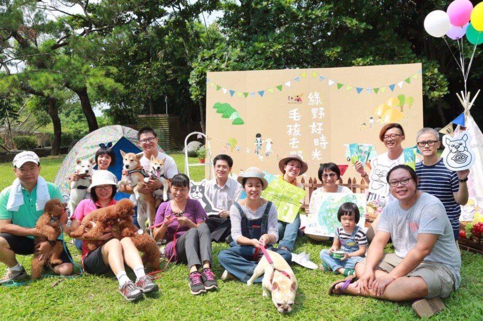熱鬧的「綠野好時光毛孩來野餐」活動。(圖片提供/台南市政府觀光旅遊局)