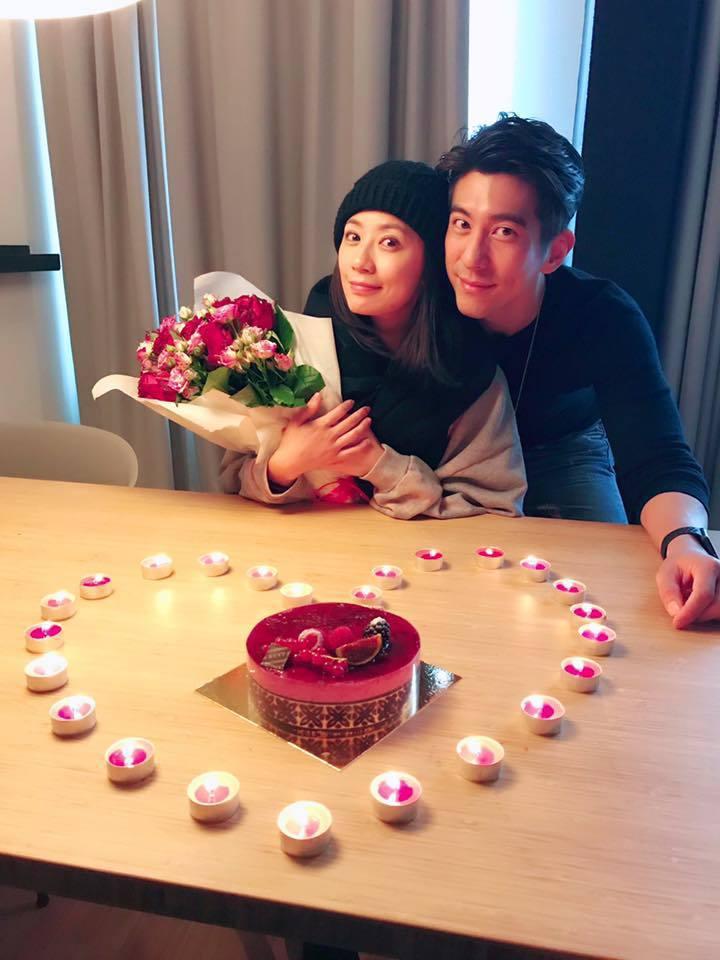賈靜雯過42歲生日,老公修杰楷精心準備驚喜超浪漫。圖/摘自賈靜雯臉書