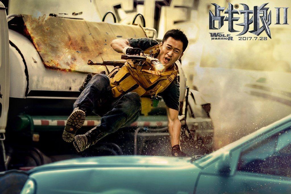 「戰狼2」將代表中國大陸角逐奧斯卡金像獎最佳外語片。圖摘自微博