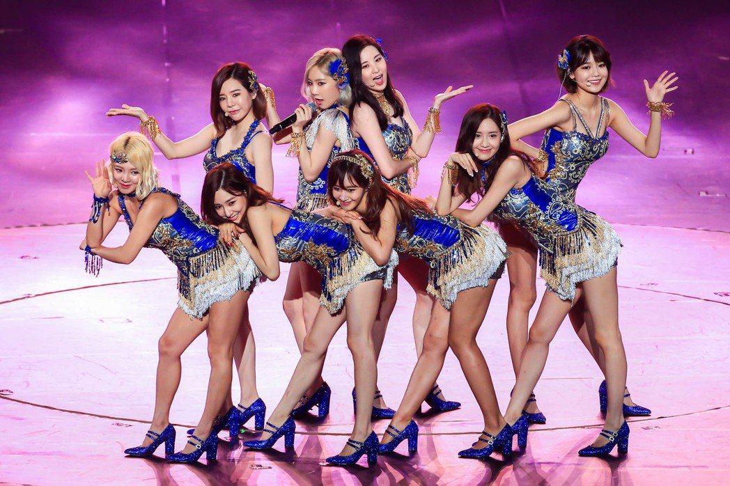 少女時代去年在台北小巨蛋舉辦演唱會,勁歌熱舞展現活力。圖/聯合報系資料照