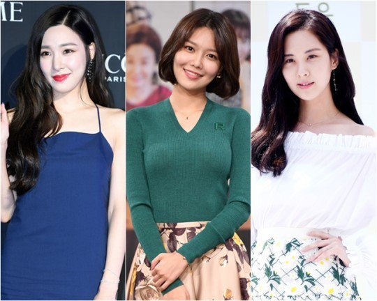 Tiffany(左起)、秀英、徐玄確定離開SM娛樂。圖/摘自OSEN