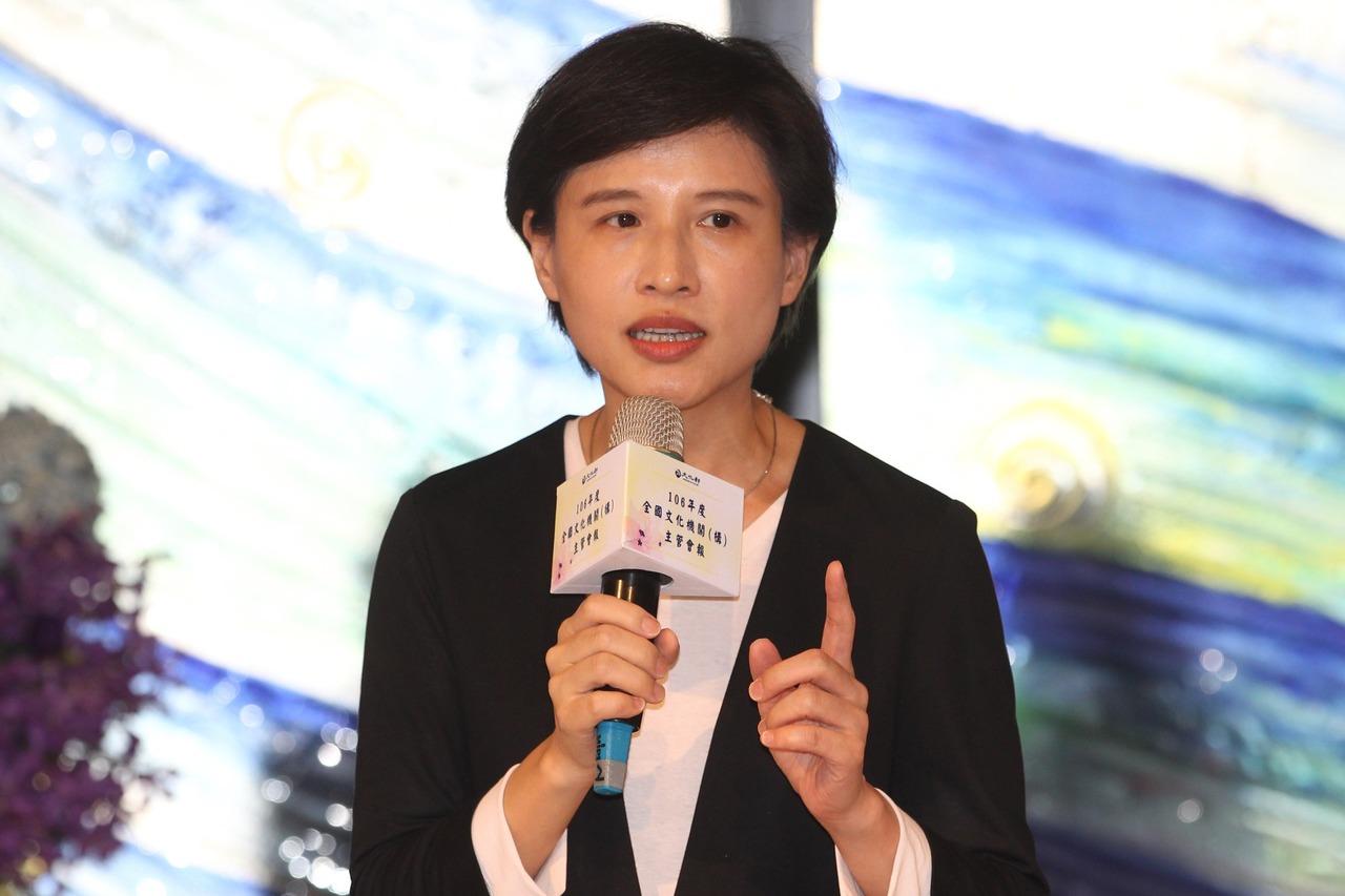 文化部長鄭麗君。 中央社