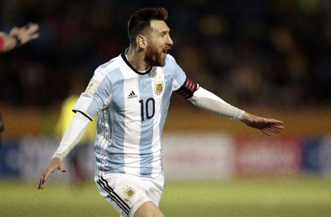「梅西!梅西!」膜拜式地歡呼,成為阿根廷全國的吶喊。 圖/歐新社