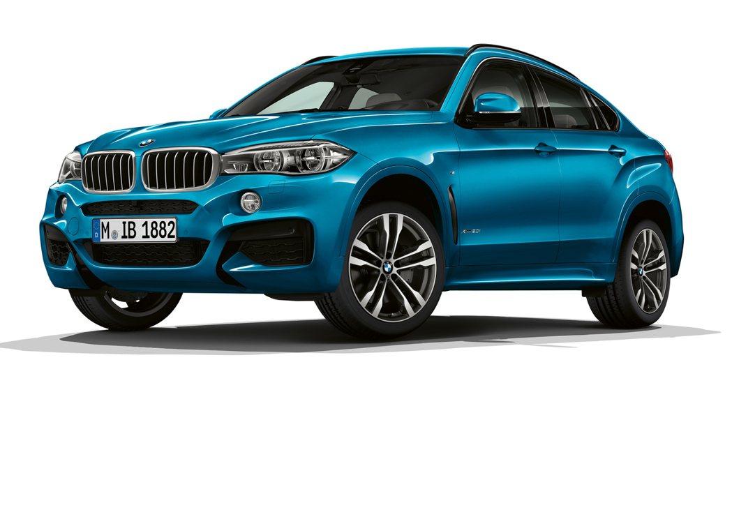 BMW X6 M Sport Edition擁有專屬的車色長灘藍。圖/BMW提供