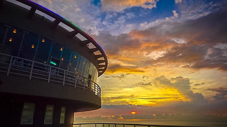 桃園市大園區「航空港360度景觀旋轉餐廳」。 業者/提供