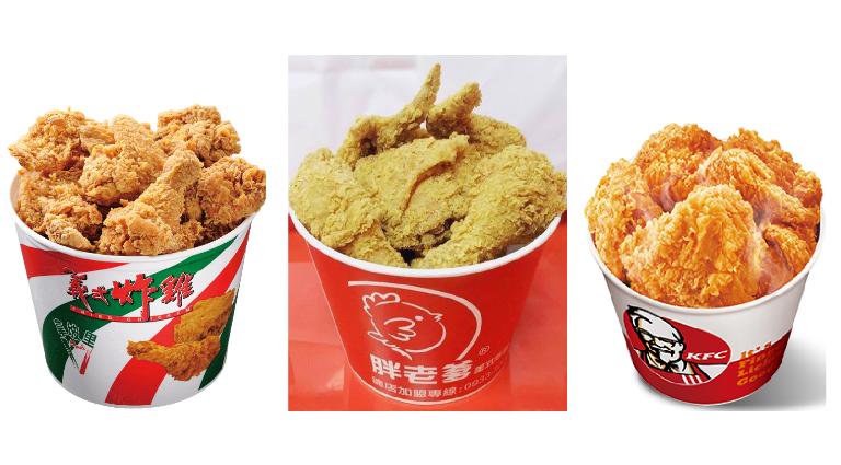 圖片來源:拿坡里官網、肯德雞官網、胖老爹美式炸雞羅東店