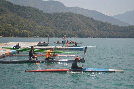 這裡同時也是水里商工輕艇的練習基地喔。 圖/涂盛發提供