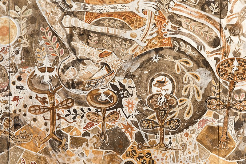曾參與瀨戶內國際藝術祭的畫家淺井浴介,將公開他過去停留道後溫泉10天,以當地土壤...