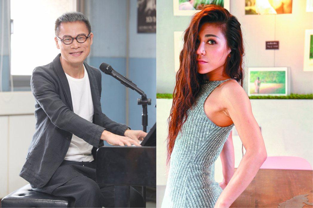 羅大佑和艾怡良2013年在「中國最強音」結緣。圖/聯合報系資料照