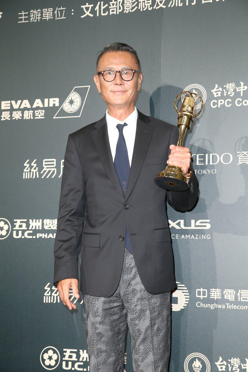 劉德凱獲得第52屆金鐘獎戲劇節目男主角獎。圖/聯合報系資料照