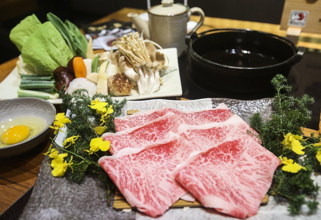 日本和牛壽喜燒。聯合報系記者楊萬雲/攝影