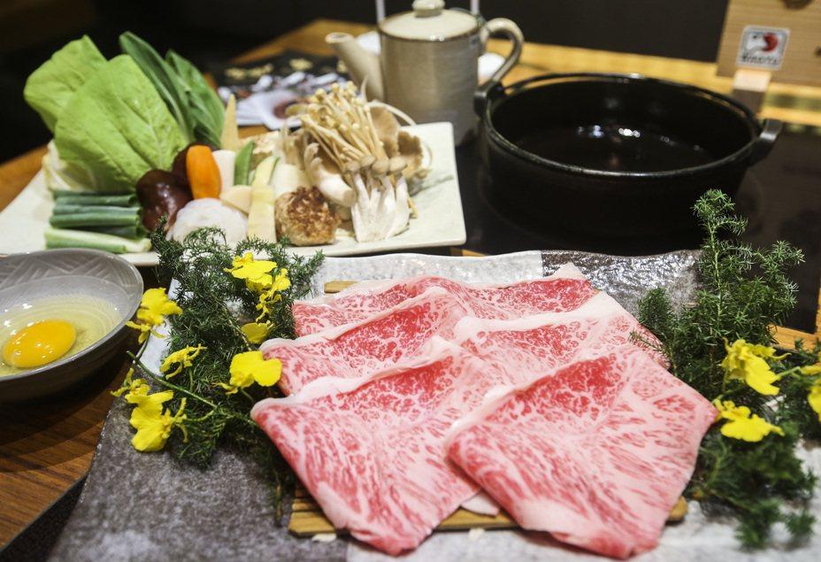 日本和牛壽喜燒。記者楊萬雲/攝影