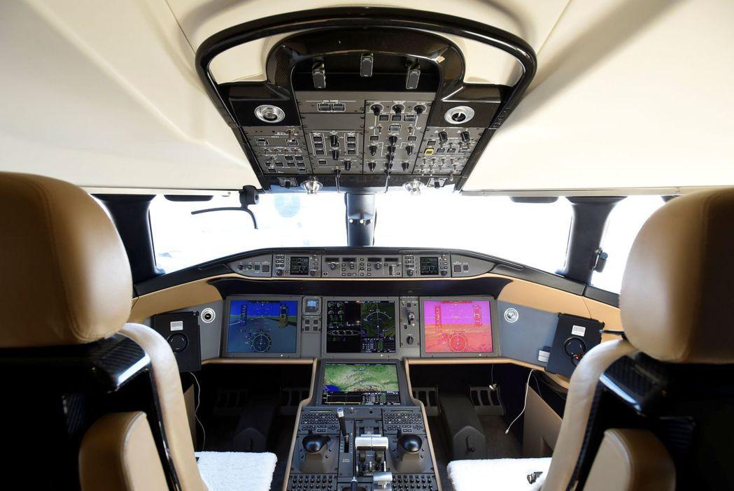 龐巴迪「環球7000」駕駛艙。 (路透)
