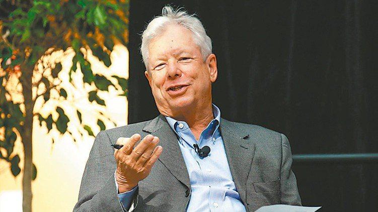 2017年諾貝爾經濟學獎得主塞勒。 路透