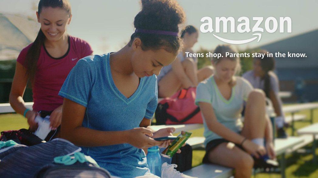 亞馬遜網站瞄準青少年市場,准許青少年在家長監護下,可自行設立帳戶。(亞馬遜網站)...