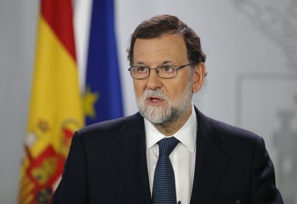西班牙總理拉荷義(圖)告訴在馬德里的國會議員,他給加泰隆尼亞自治區主席普伊格蒙特...