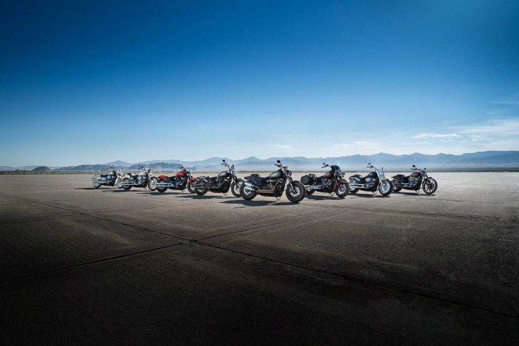 2018年式Harley-Davidson Softail家族。圖/太古鼎翰提供
