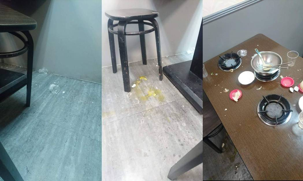 一位客人到店內用餐,任憑小孩四處撒野、弄髒店內環境也不出聲制止。圖擷自爆料公社