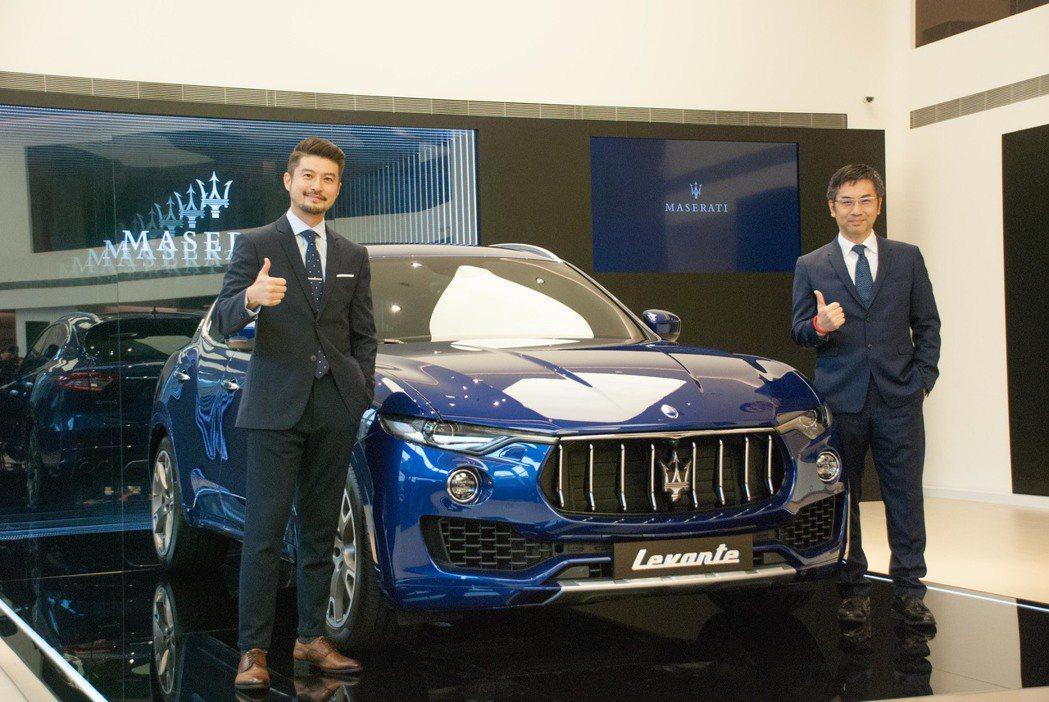 Maserati Taiwan總經理黃怡超(右)與行銷公關經理孟祥恩。記者林昱丞/攝影