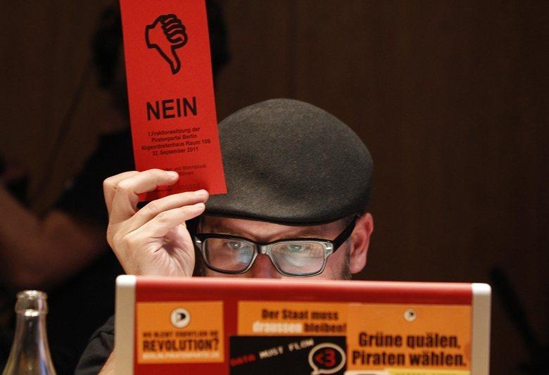 海盜黨在今年國會大選,僅得票0.4%,甚至比投給德國國家民主黨(NPD)的人還少...