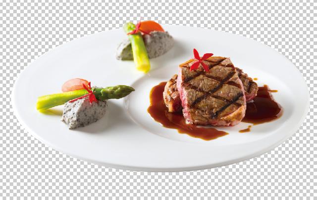 炭烤美國熟成Prime 肋眼襯松露洋芋泥佐法式培根紅酒醬。