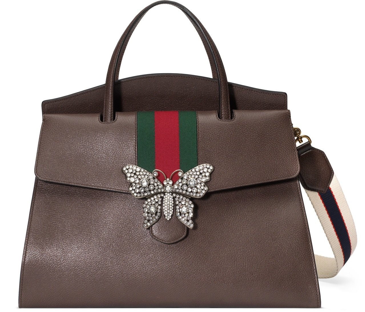 GucciTotem 水鑽蝴蝶裝飾提包,NT$ 153,900(大)。