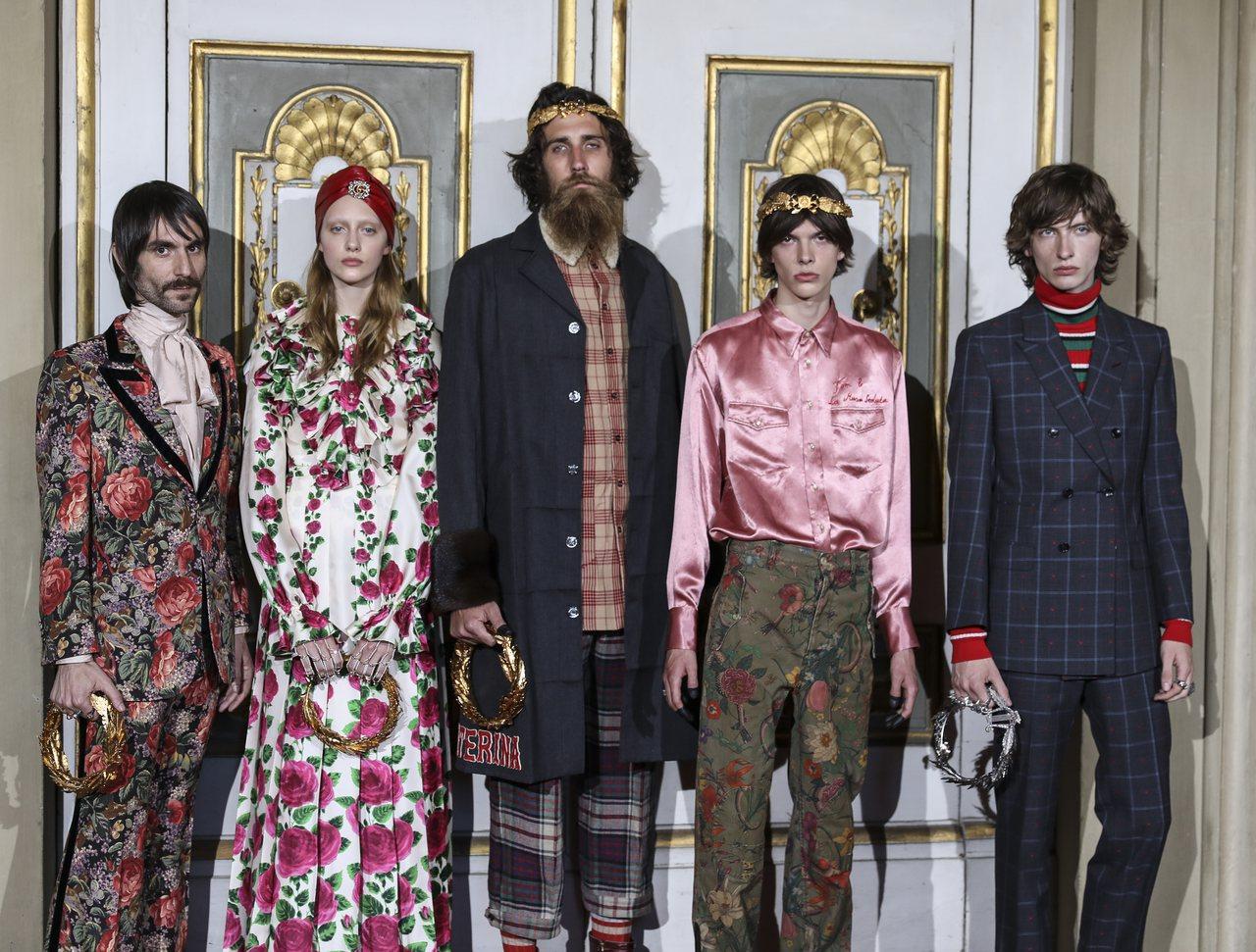 Gucci 2018早春系列,將源自於文藝復興時期的古老美學透過創意總監Alessandro Michele視角重現專屬現代化穿搭的全新風格。