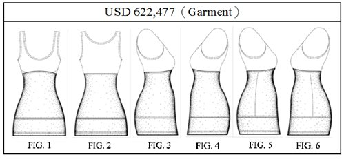圖1:Times Three公司貼身內衣的USD 622,477圖式