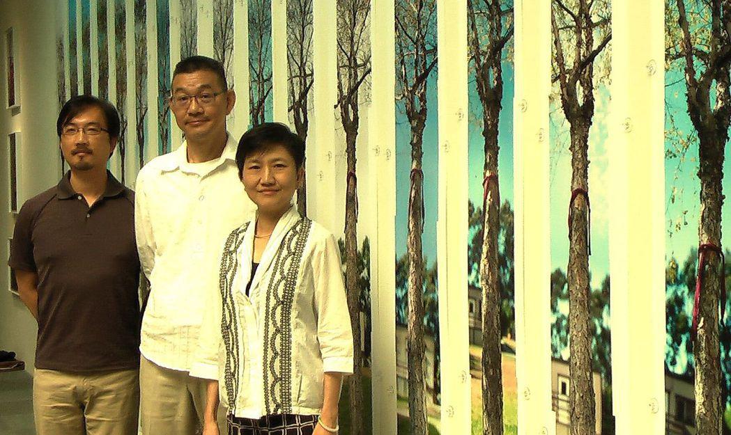 高美館舉辦《線—石晉華當代宗教藝術展》。記者徐如宜/攝影