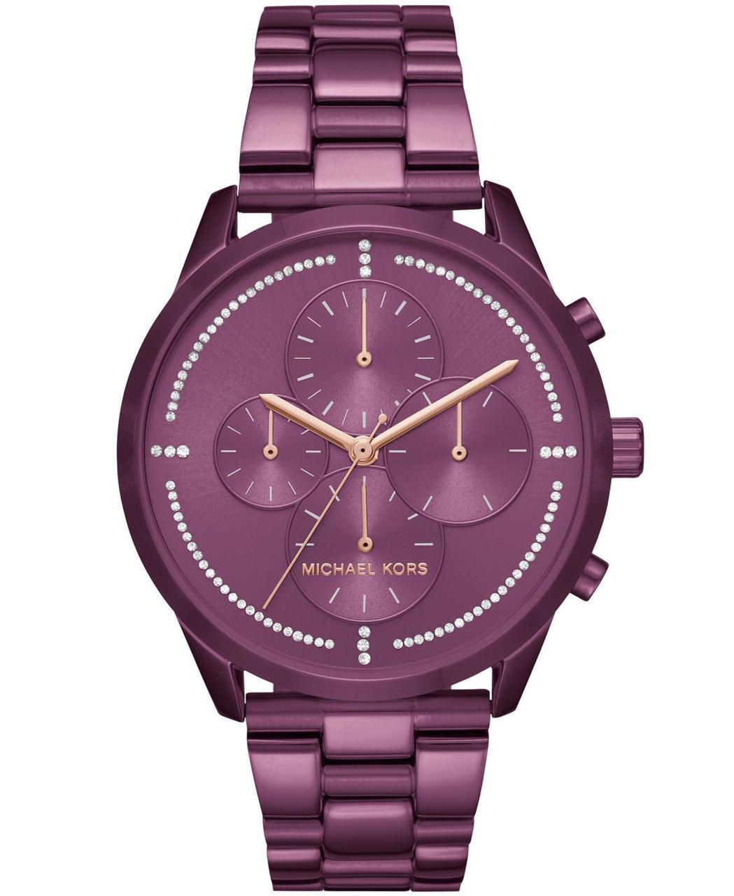 Michael Kors Slater系列四眼計時表盤密鑲水晶腕表,約11,30...