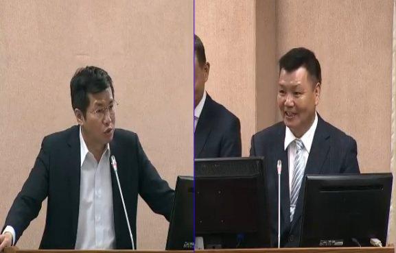 退輔會副主委李文忠(右)表示,「基金會怕他去整頓」,他接任董事長後,第一天下午就...