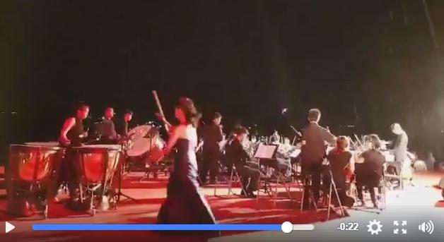 影像顯示首席馮楚軒為了保護愛琴離席。圖╱截自莊亞寰授權影片