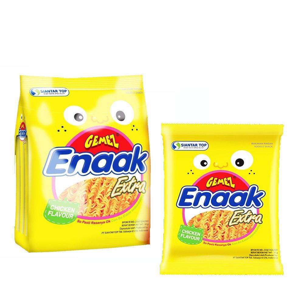 Enaak增量版袋裝韓式小雞麵3袋組,促銷價119元。圖/momo購物網提供