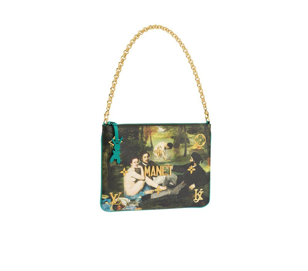馬奈「草地上的午餐」Pochette鍊帶包,售價59,500元。圖/LV提供