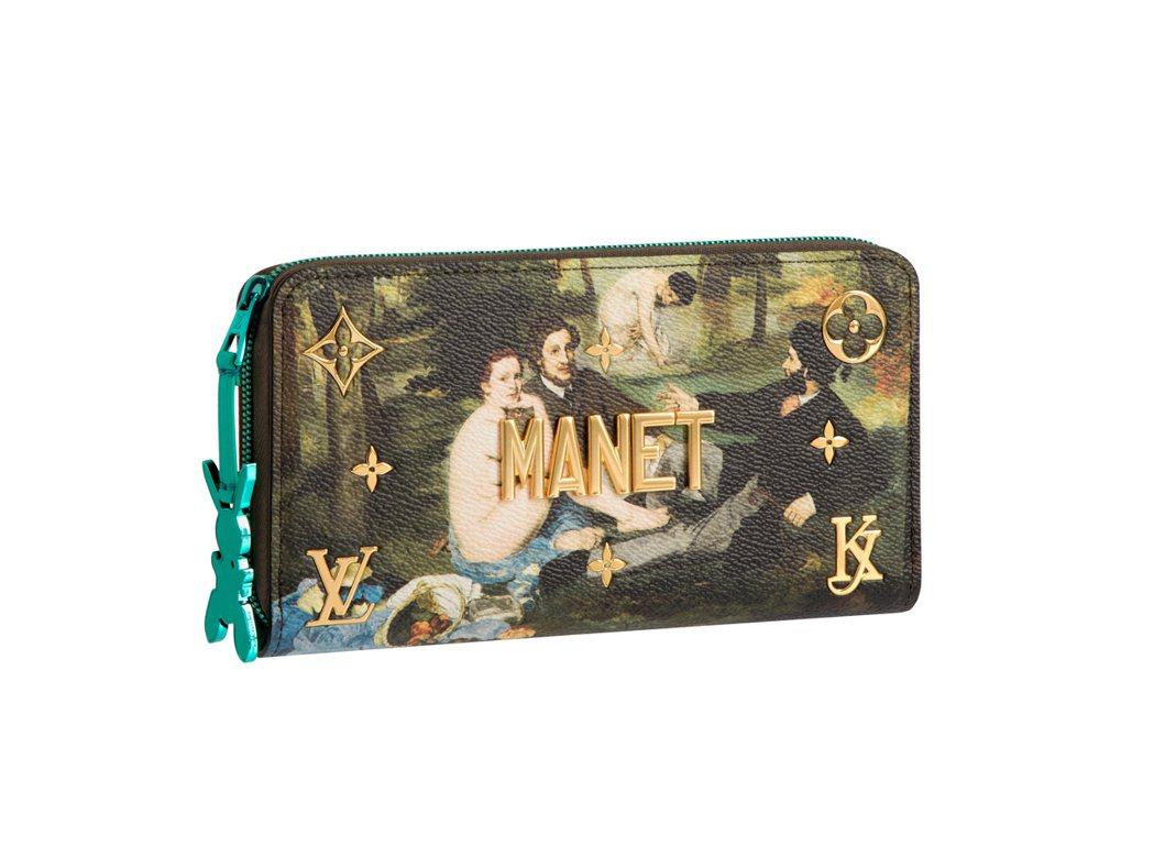 馬奈「草地上的午餐」拉鍊錢包,售價59,500元。圖/LV提供