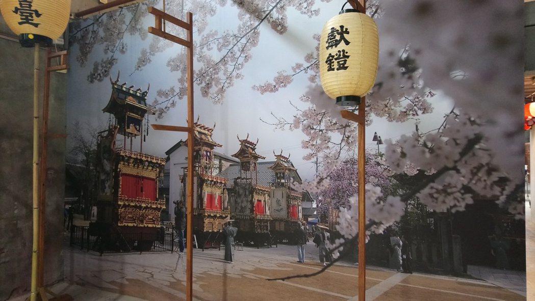 新港文教基金會30周年的「臺日文化慶典平安祭」,會場布置呈現濃濃日本風。記者卜敏...