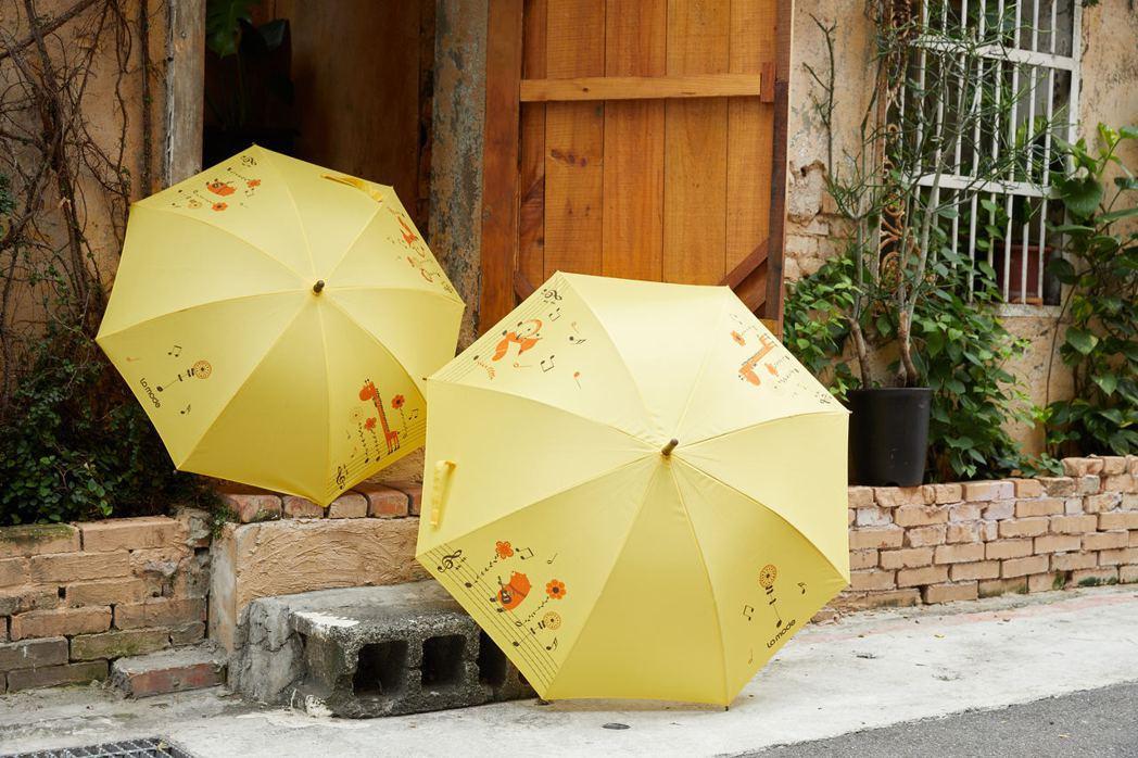 La mode寢飾周年慶滿額贈送親子傘。圖/La mode提供