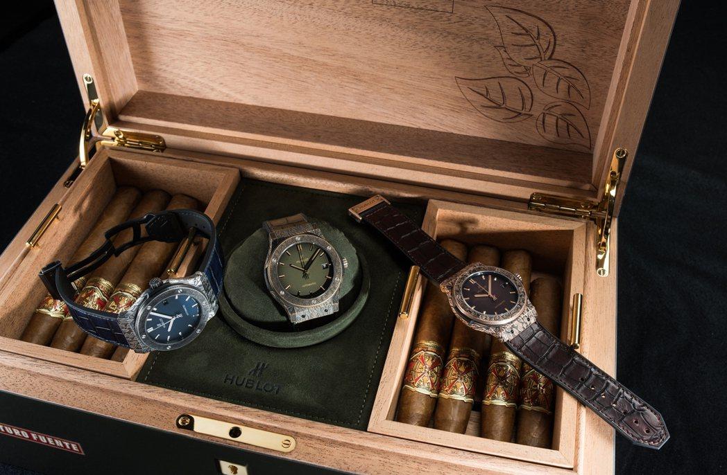 宇舶第三度與雪茄名廠Arturo Fuente合作,打造了經典融合系列Fuent...