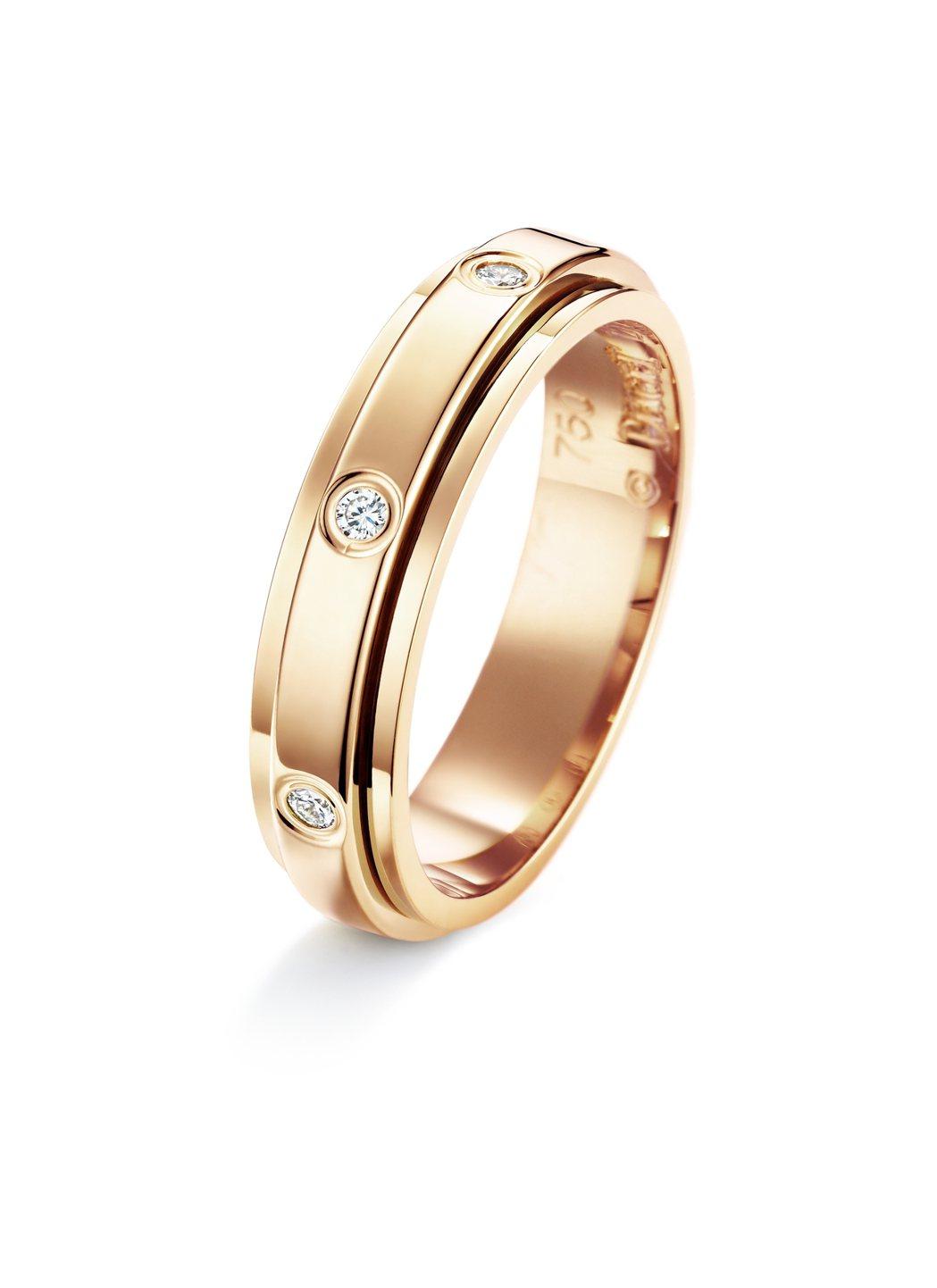 Possession 系列旋轉指環,18K玫瑰金鑲鑽共0.13克拉,73,000...