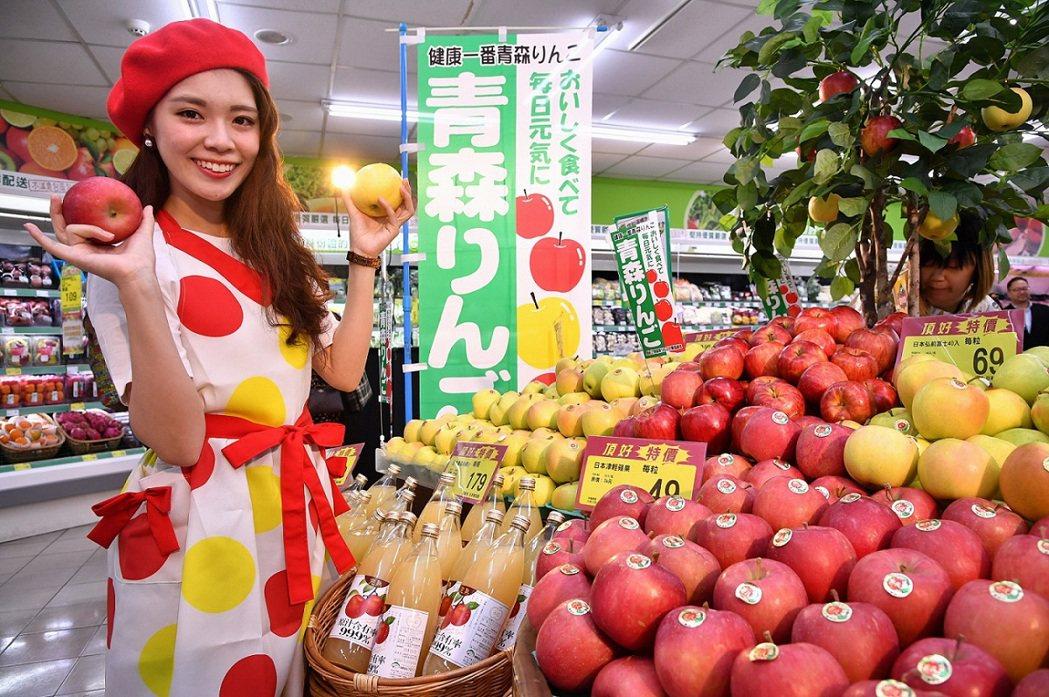頂好超市銷售常勝軍青森蘋果,每10秒就能賣出1顆。圖/頂好超市提供