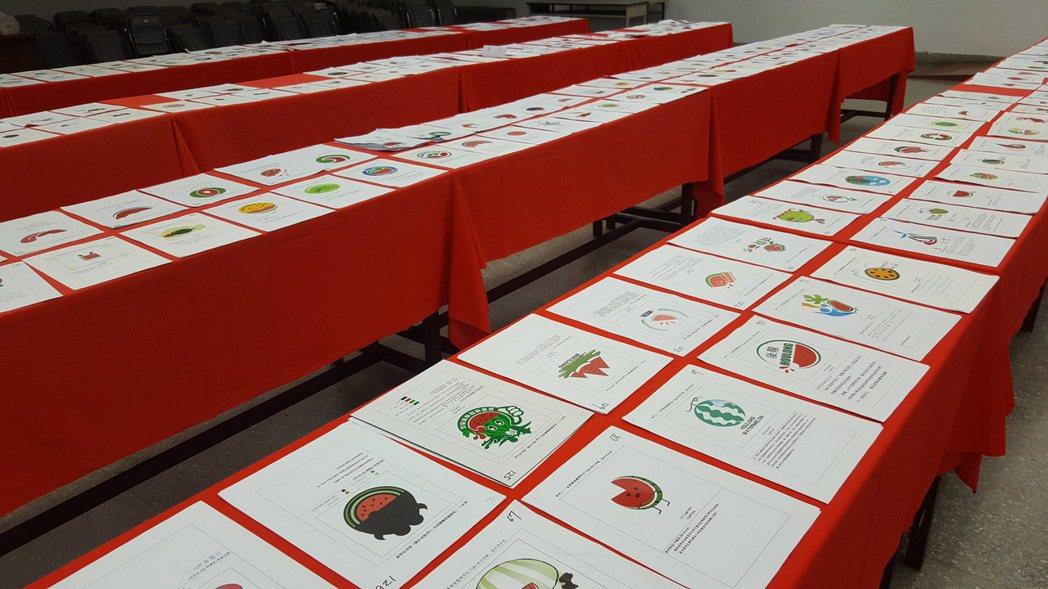 苗栗縣後龍鎮最近向全國徵件辦理西瓜、黑豆產地標章LOGO設計評選,1個月內收到3...