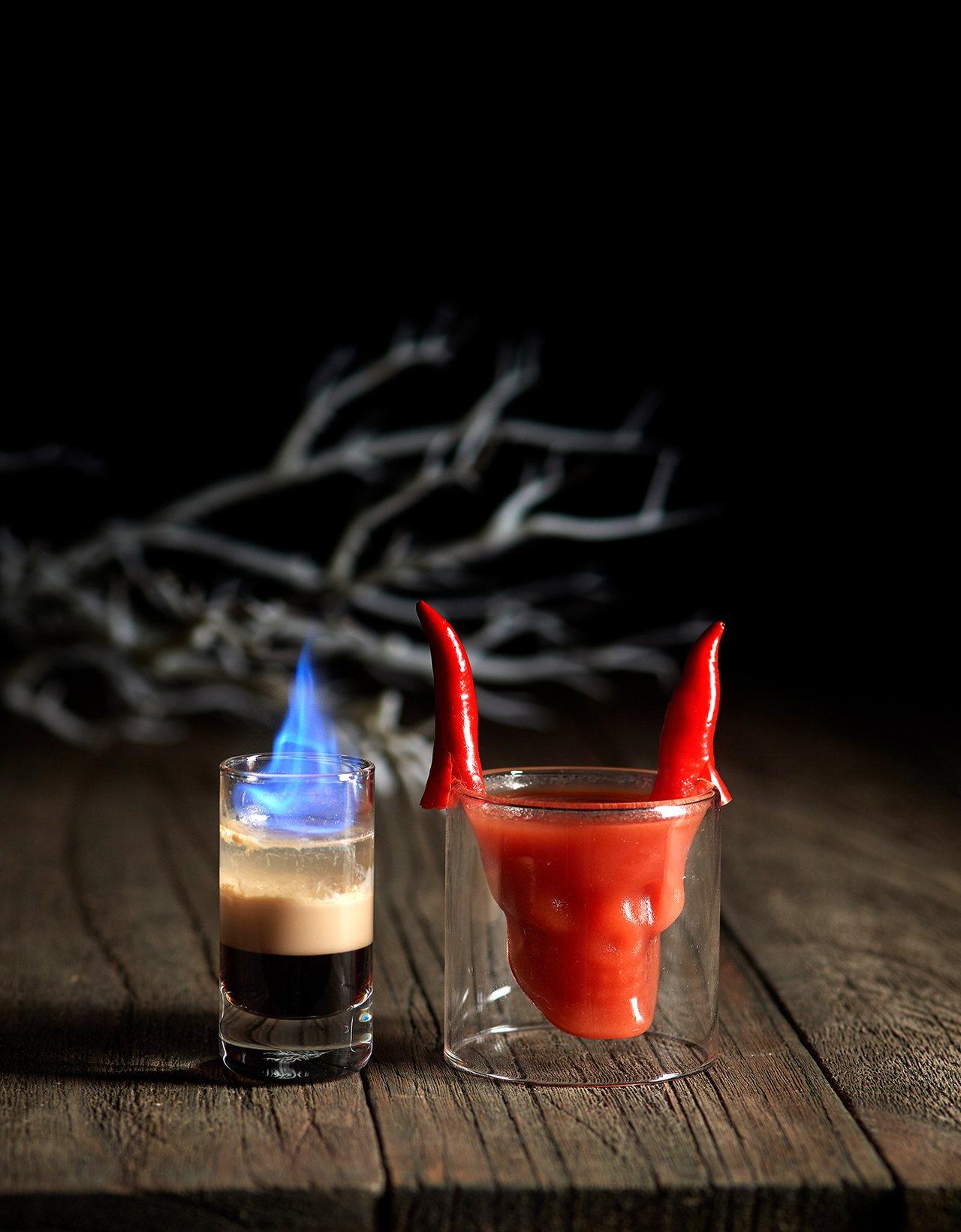 美福飯店Cocoon酒吧推出萬聖節調酒。圖/美福飯店提供