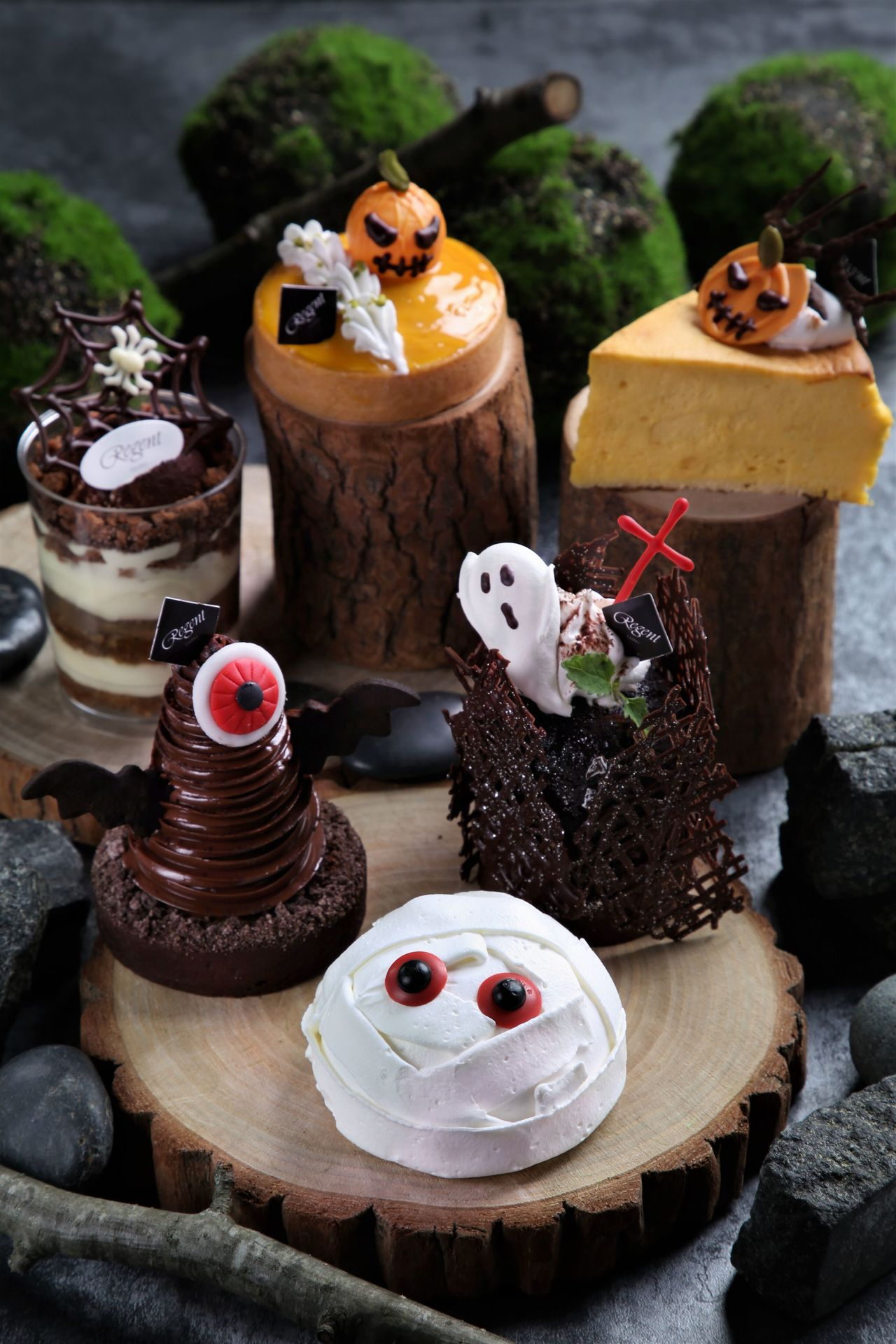 晶華酒店端出多項萬聖節甜點。圖/高雄國賓提供