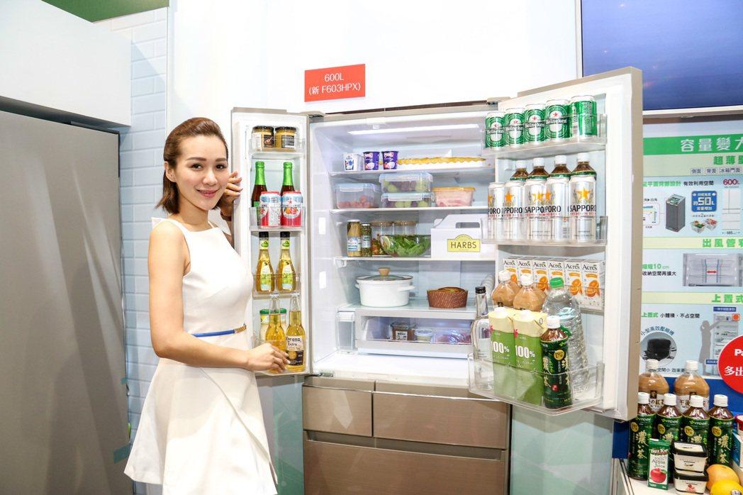 Panasonic全新日本製電冰箱搭載新-3℃微凍結機能。記者史榮恩/攝影