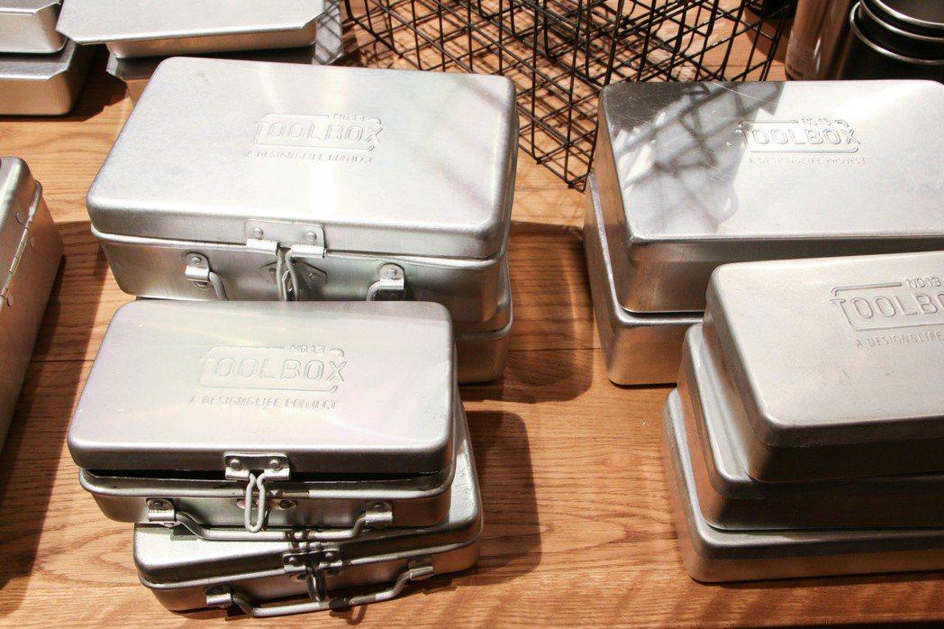 niko and…Tool Box系列收納鐵盒。圖/謝欣倫攝影