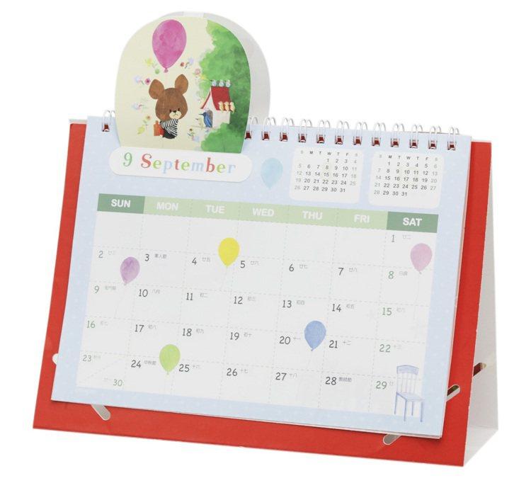 2018小熊學校立體桌曆。圖/Mister Donut提供