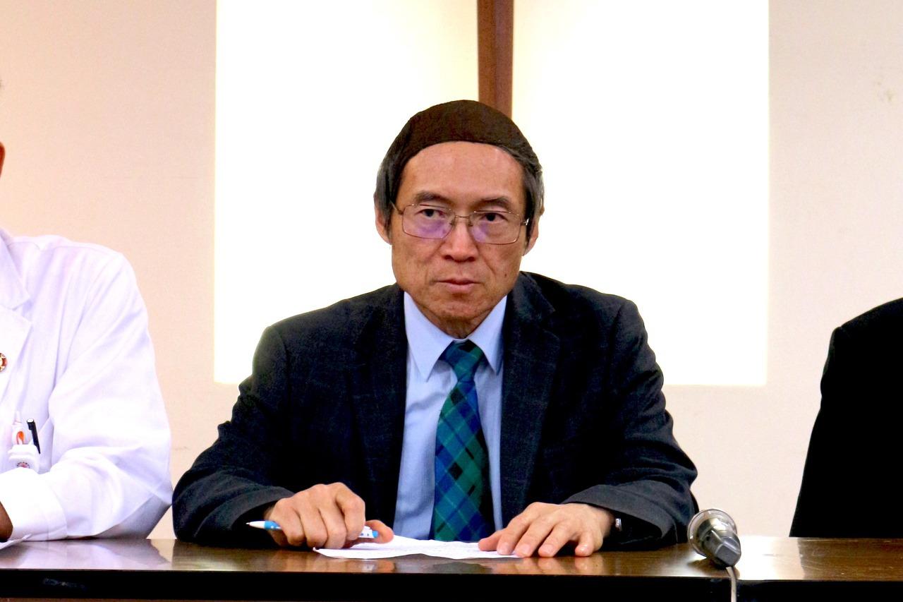 馬偕董事長劉伯恩近來成為事件焦點,提供獨家頂上秘方。 記者陳雨鑫/攝影