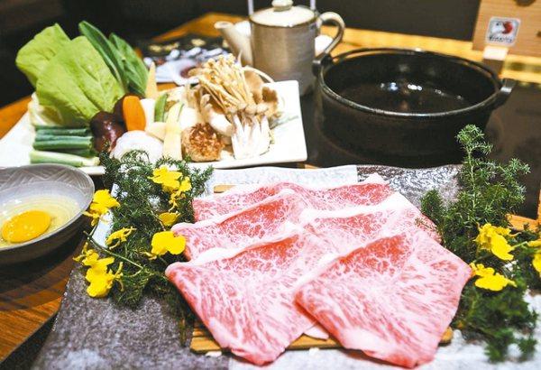 日本和牛壽喜燒。