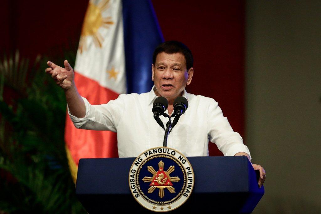 菲律賓總統杜特蒂。歐新社